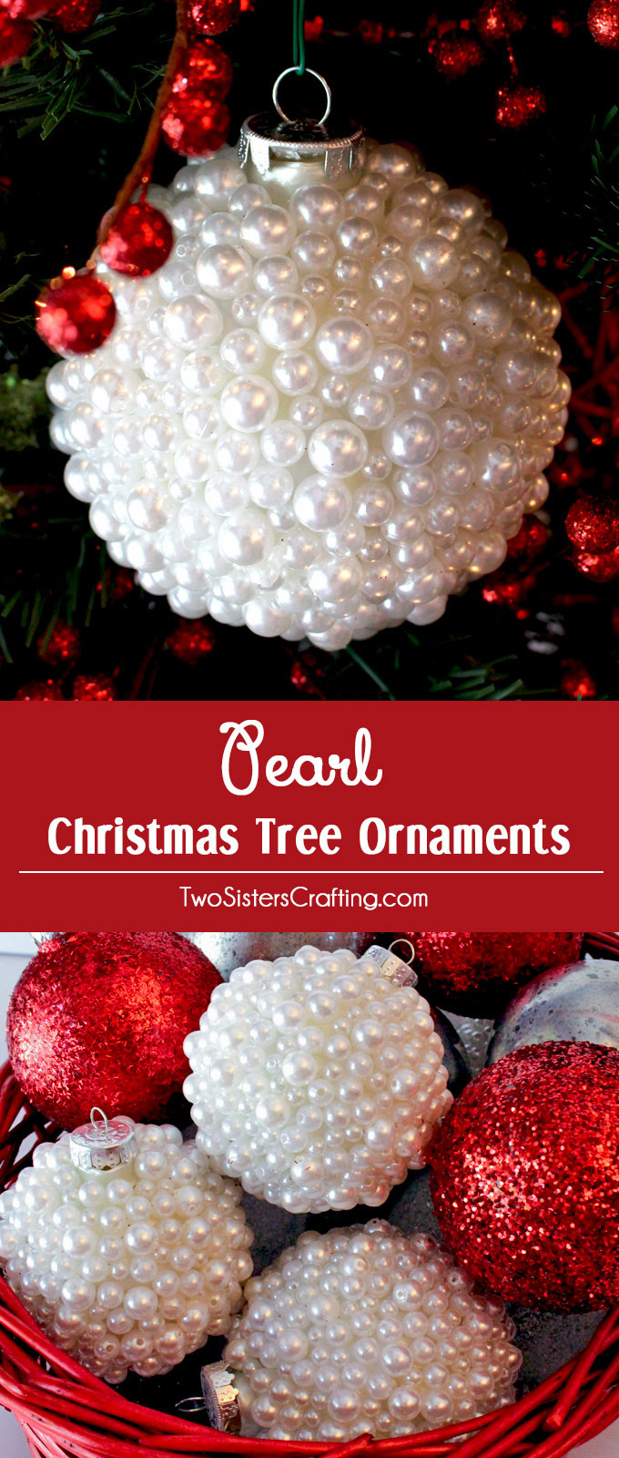 Pearl Christmas Tree Ornaments Two Sisters