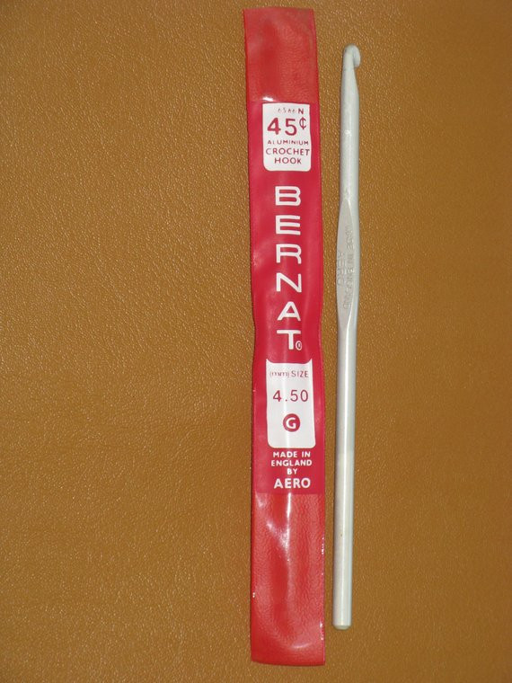 G Hook Size Fresh Vintage Bernat Crochet Hook Aluminum Size G Made In England by Of Incredible 40 Pics G Hook Size