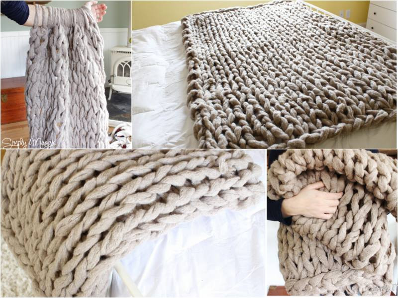 Giant Yarn Blanket Beautiful Learn How to Arm Knit A Blanket In 45 Minutes Diy Find Of Unique 44 Images Giant Yarn Blanket