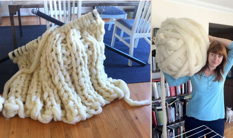 Giant Yarn Blanket Lovely Knitting with 5 Foot Long Needles Of Unique 44 Images Giant Yarn Blanket