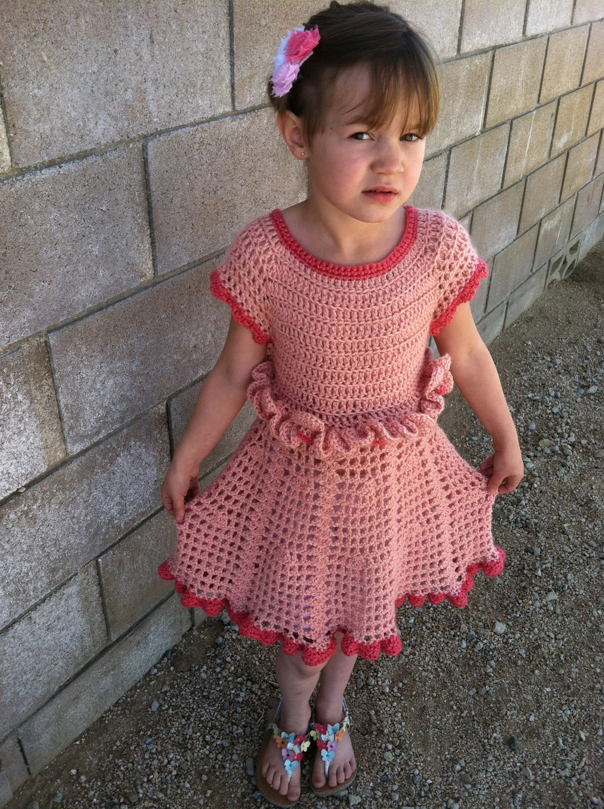 Girl Crochet Dress Lovely A Military Wife S Tale Petal Ruffle Dress Of Contemporary 41 Pictures Girl Crochet Dress
