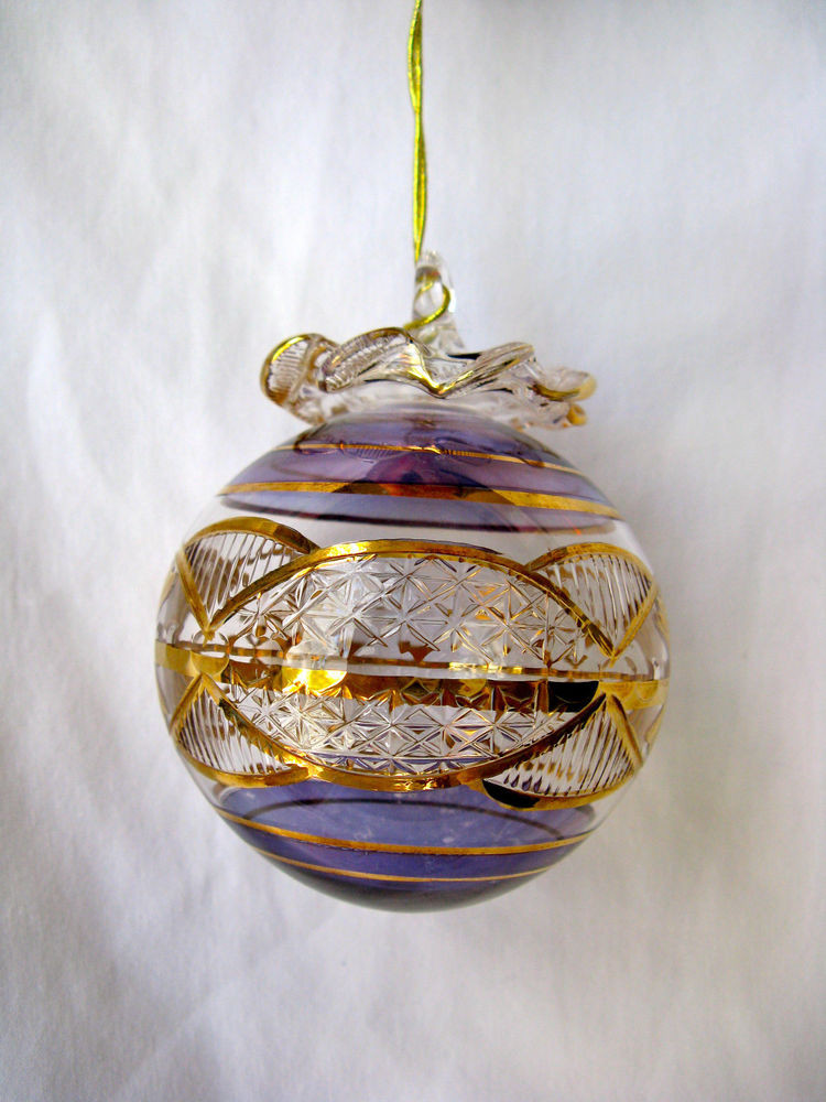 Glass Christmas ornaments Awesome Egyptian Handmade Gold Accent Ball Glass Christmas Of Incredible 46 Pics Glass Christmas ornaments