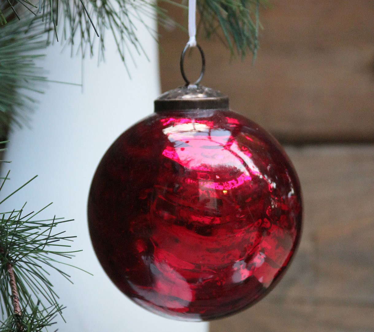Glass Christmas ornaments Awesome Vintage Kugel Style Crackle Heavy Mercury Glass Christmas Of Incredible 46 Pics Glass Christmas ornaments