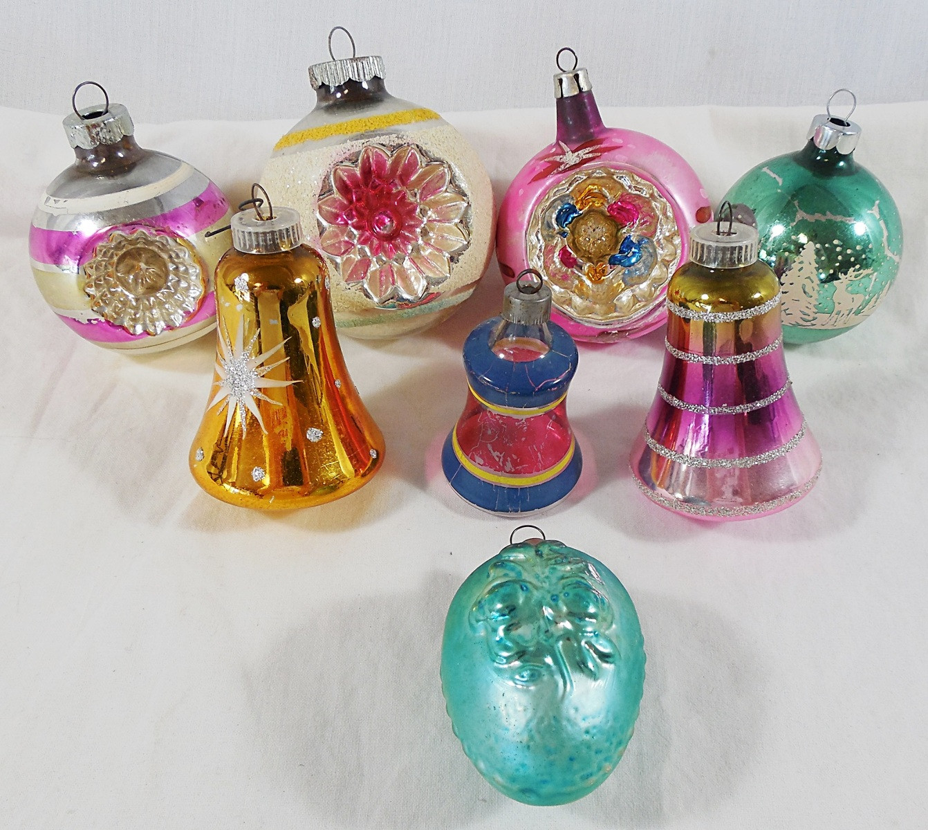 Glass Christmas ornaments Best Of Vintage Lot Of 8 Mercury Glass Christmas Holiday Tree Of Incredible 46 Pics Glass Christmas ornaments