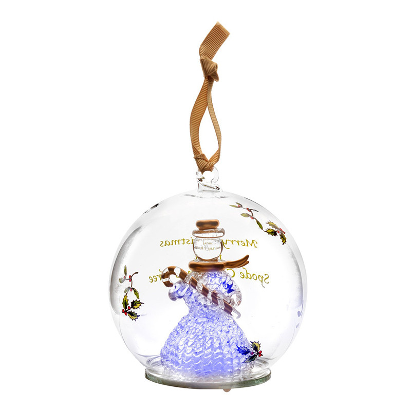 Glass Christmas ornaments Inspirational Spode Snowman Glass Led Christmas ornament Of Incredible 46 Pics Glass Christmas ornaments