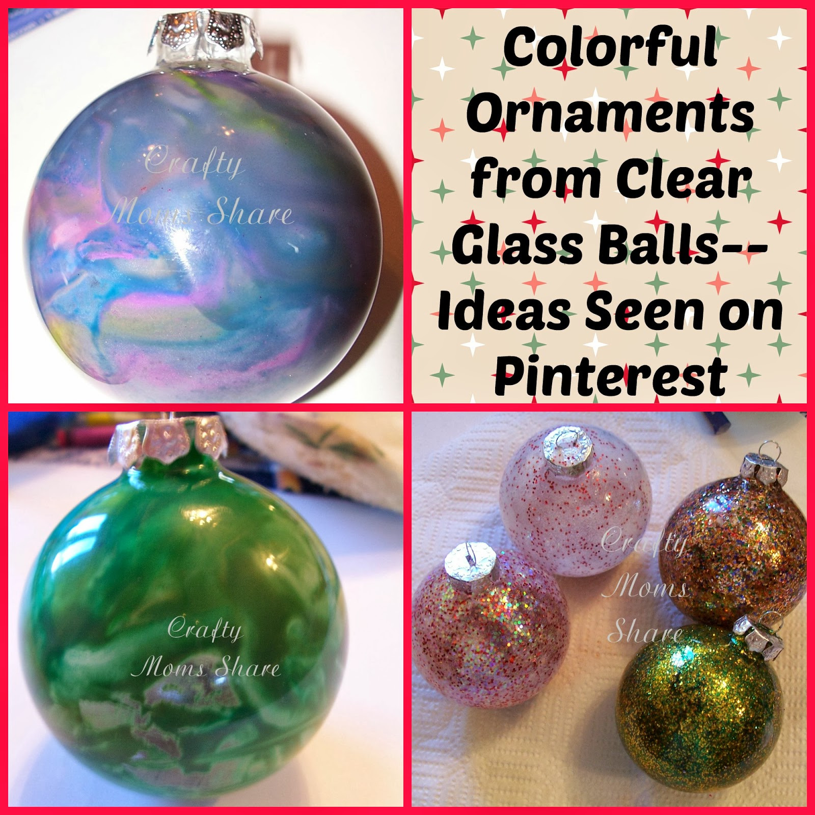 Glass ornament Balls Awesome Crafty Moms Glass Ball Christmas ornaments Ideas Of Charming 49 Pictures Glass ornament Balls