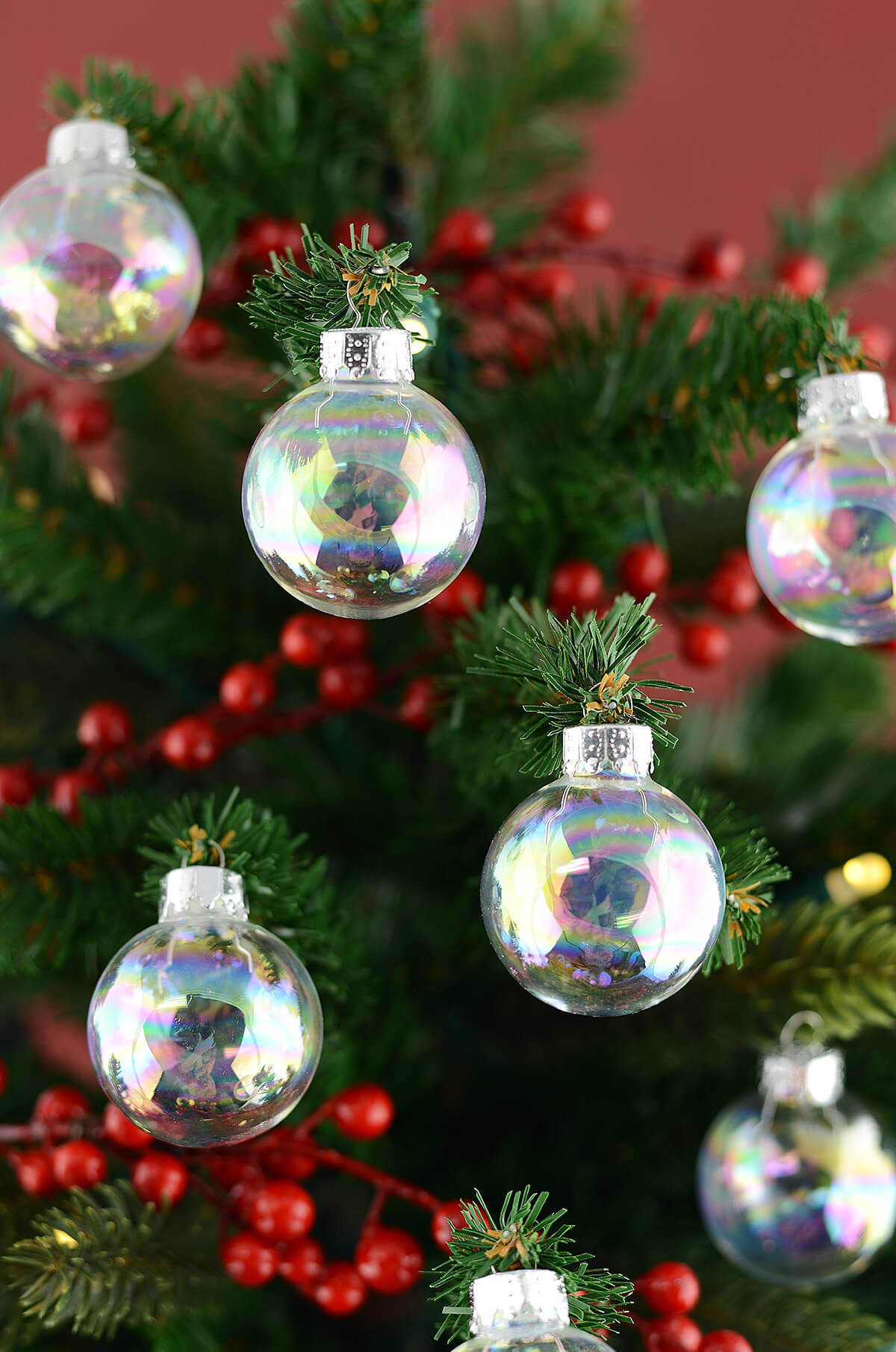 Glass ornament Balls Beautiful 20 Clear Glass 1 37in ornament Balls Iridescent 35mm Of Charming 49 Pictures Glass ornament Balls