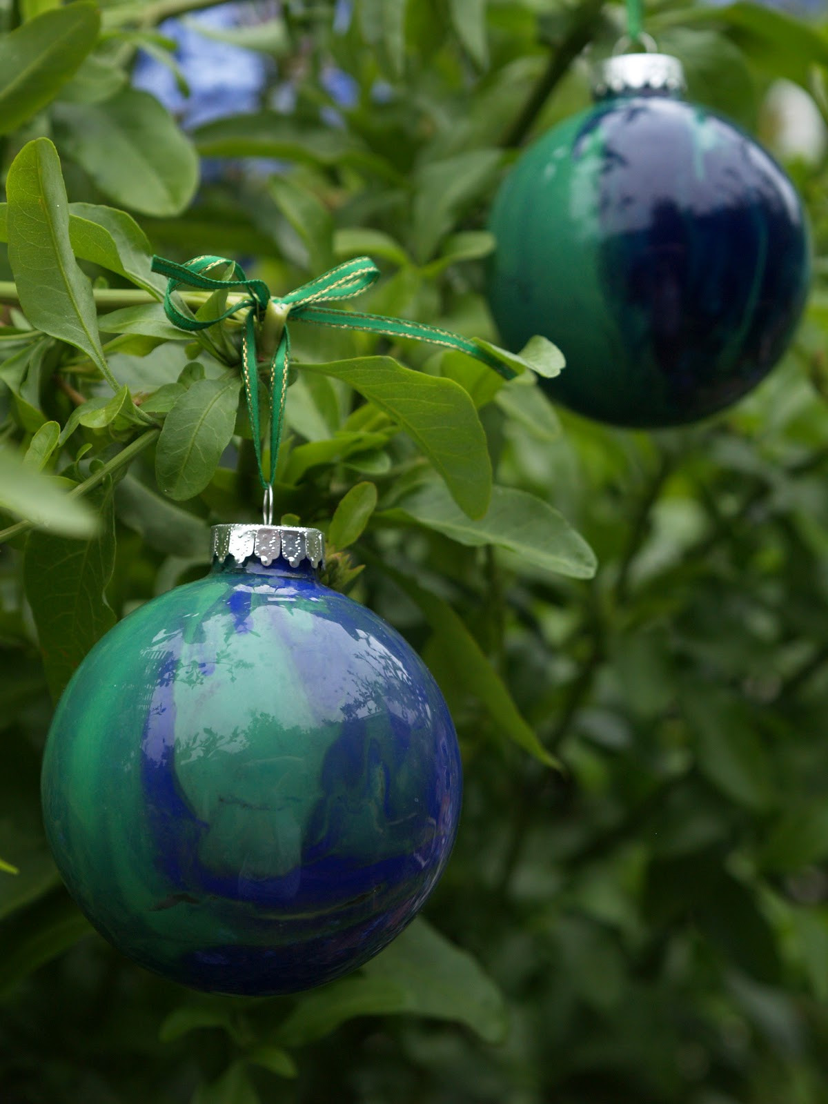 DIY Hand Painted Glass Ornament