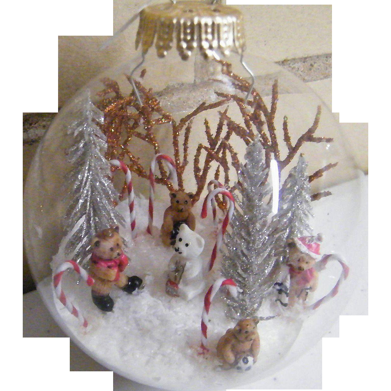 Glass ornament Balls Best Of Signed Folk Art Clear Glass Christmas ornament Ball Of Charming 49 Pictures Glass ornament Balls