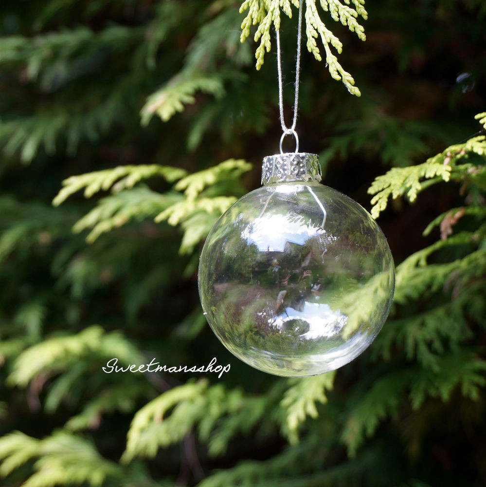 Glass ornament Balls Luxury Box Of 12 Clear Glass Christmas Wedding Baubles Ball Of Charming 49 Pictures Glass ornament Balls