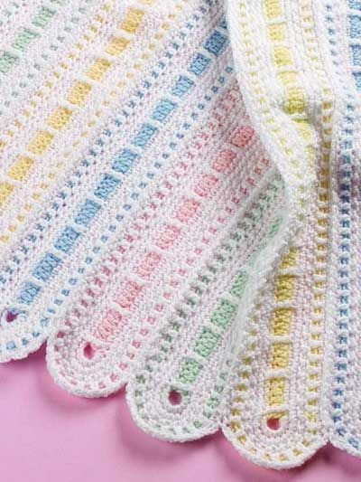 This is Gorgeous Parade Baby Afghan intermediate