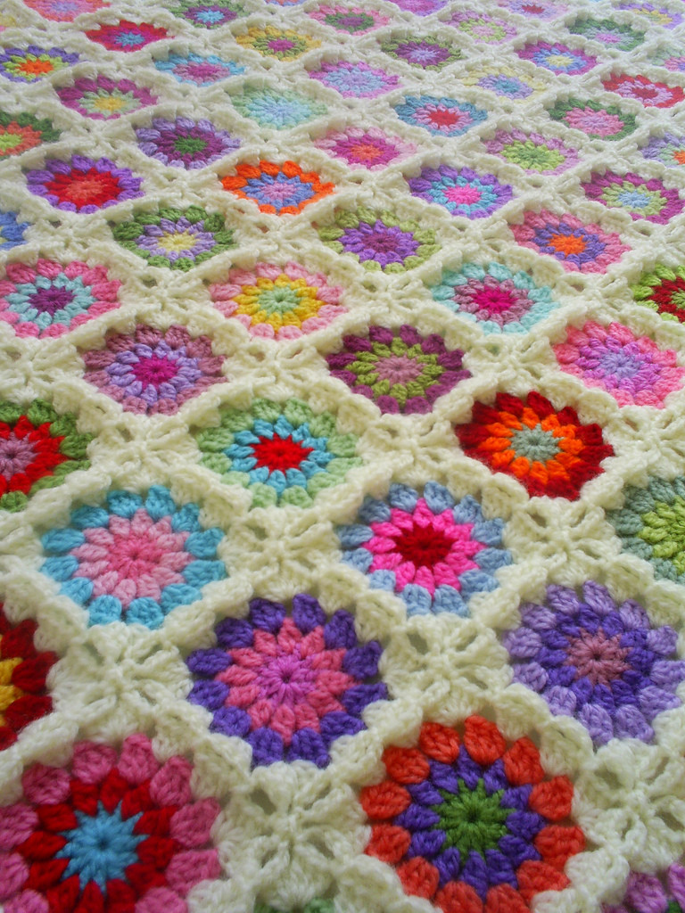 Gorgeous Crochet Afghan Patterns New Granny Square Blanket with Off White Edging Of Innovative 49 Pictures Gorgeous Crochet Afghan Patterns