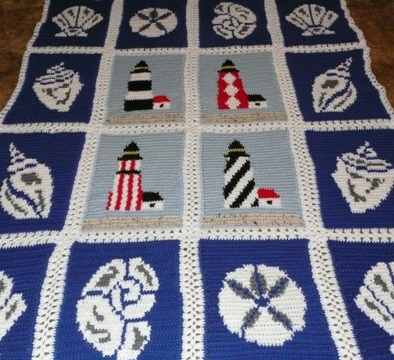 Gorgeous Crochet Afghan Patterns New Ocean View Lighthouses Crochet Afghan Throw Blanket Of Innovative 49 Pictures Gorgeous Crochet Afghan Patterns