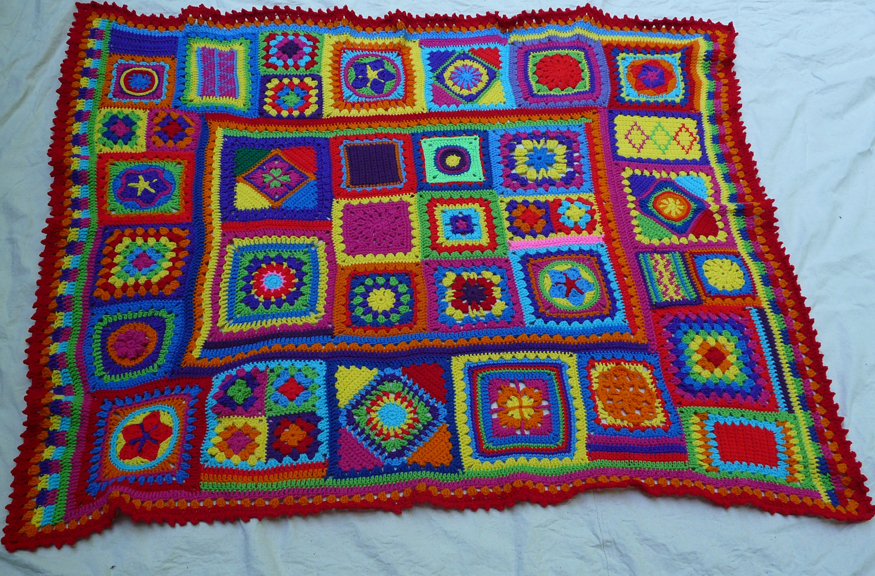 Granny Square Afghan Awesome Omg I Finished the Afghan that Has Eluded Me Crochetbug Of Adorable 50 Pics Granny Square Afghan