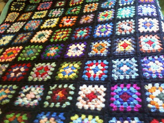 Granny Square Afghan Beautiful 1000 Images About Roseanne Afghan On Pinterest Of Adorable 50 Pics Granny Square Afghan