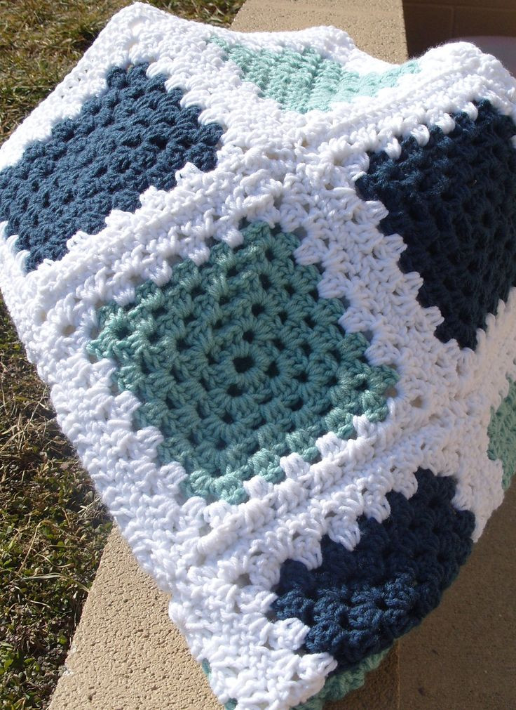 Granny Square Afghan Beautiful Crochet Afghan Blue Green White Granny Square Granny Of Adorable 50 Pics Granny Square Afghan