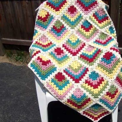Granny Square Afghan Elegant Must Have Mitered Granny Square Afghan Of Adorable 50 Pics Granny Square Afghan