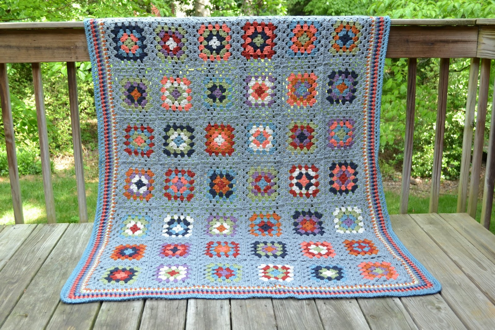 Granny Square Flair Mom s finished granny square afghan