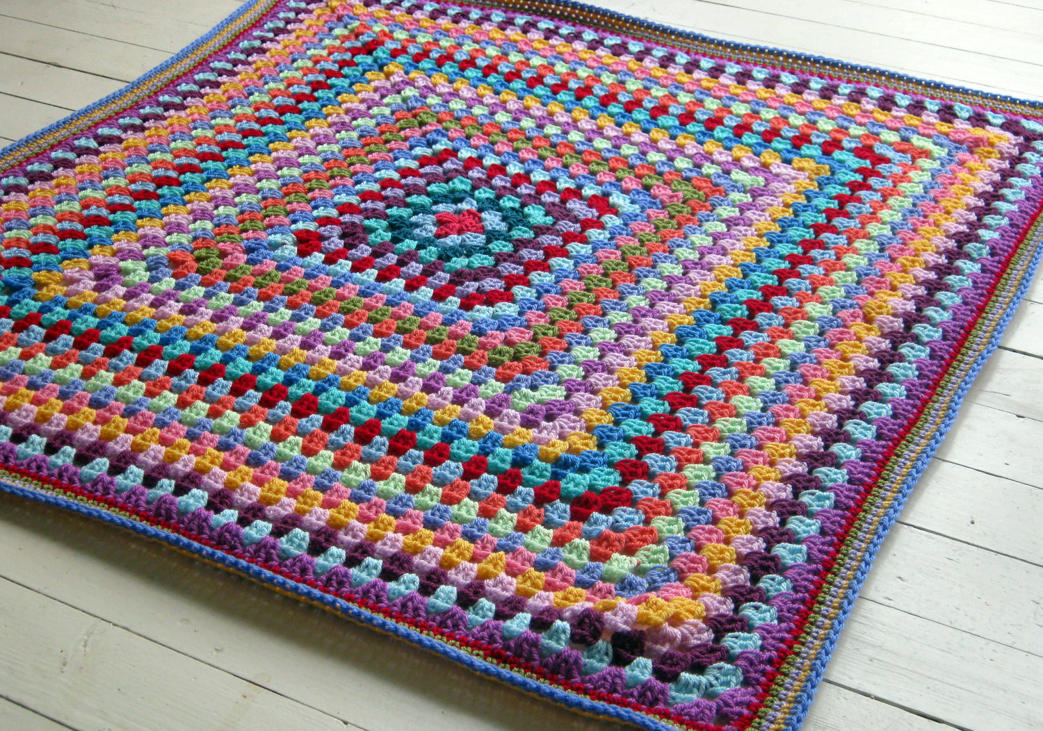 Granny Square Afghan Luxury Granny Square Blanket 2 Colors Of Adorable 50 Pics Granny Square Afghan