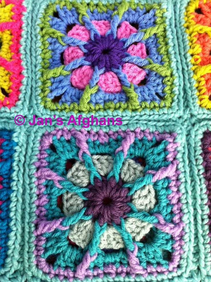 528 best Crochet Granny Square Afghans images on Pinterest