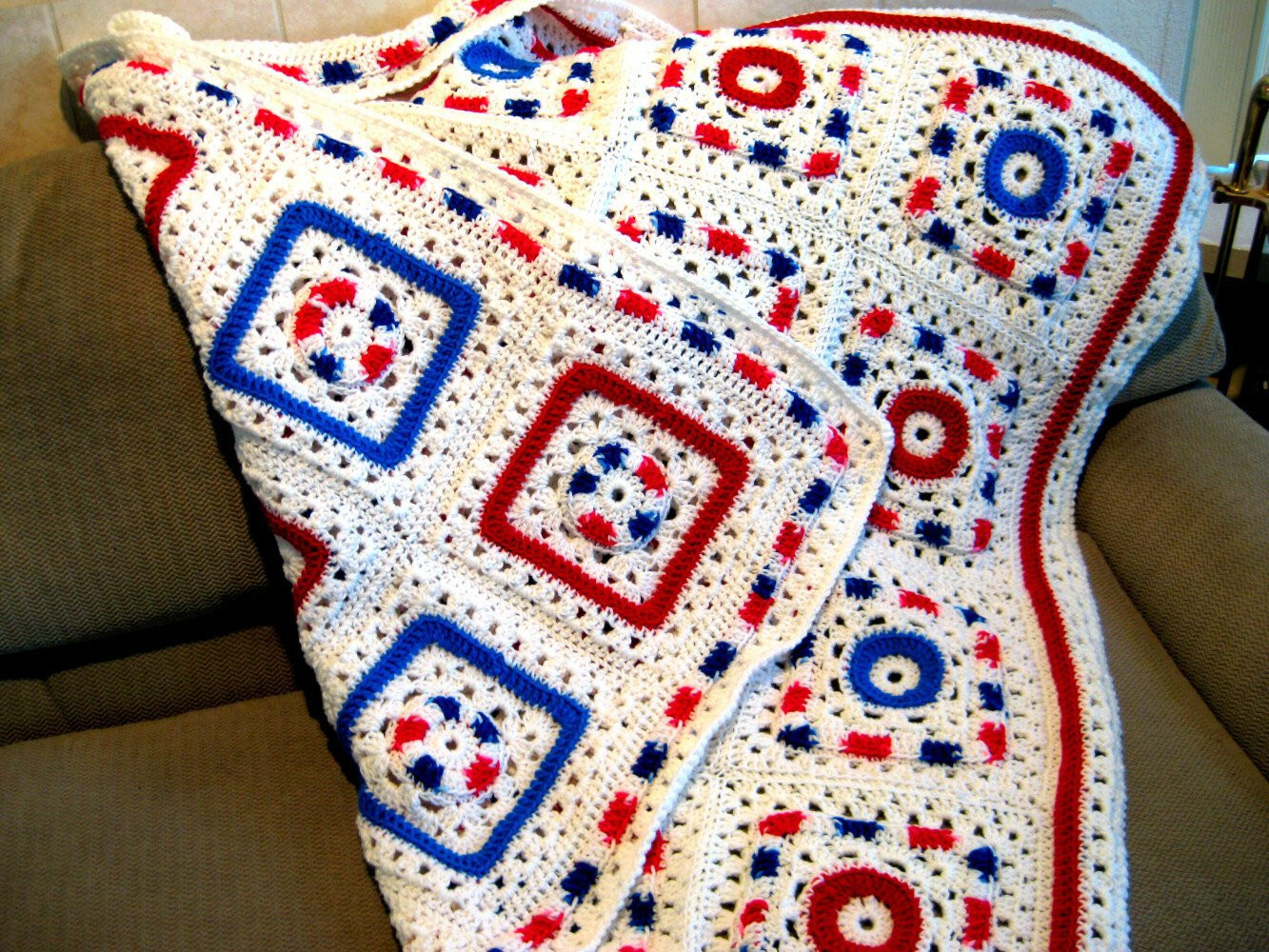 Granny Square Afghan Unique Crochet Granny Square Style Reversible Afghan by Crochetgal Of Adorable 50 Pics Granny Square Afghan