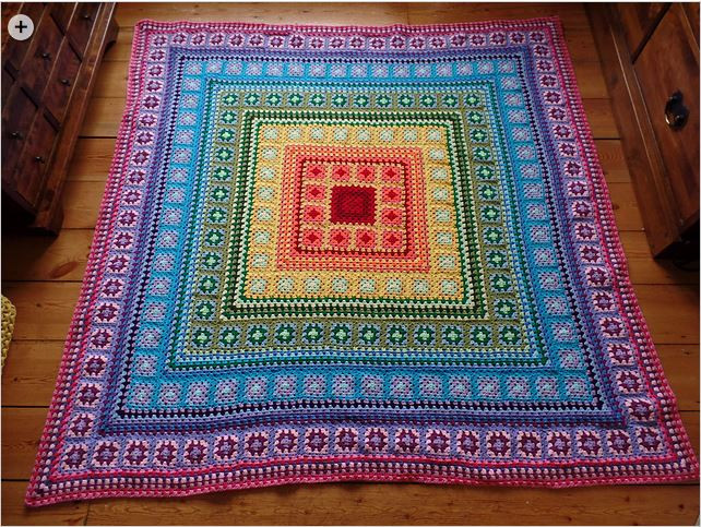 Granny Square Afghan Unique New Twist On the Granny Square Afghan Crochet Nook Of Adorable 50 Pics Granny Square Afghan