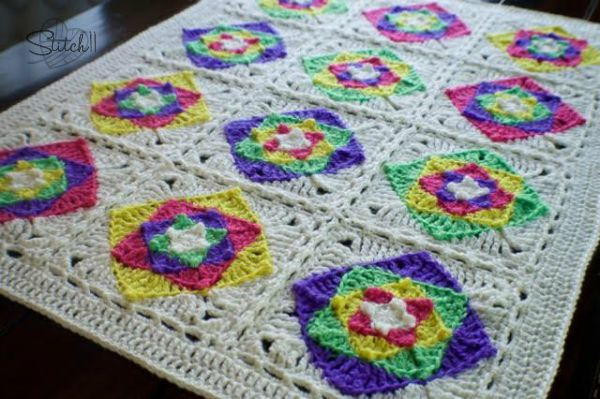 Granny Square Baby Blanket Crochet Pattern Fresh Optical Illusion Baby Blanket Of Awesome 40 Pics Granny Square Baby Blanket Crochet Pattern