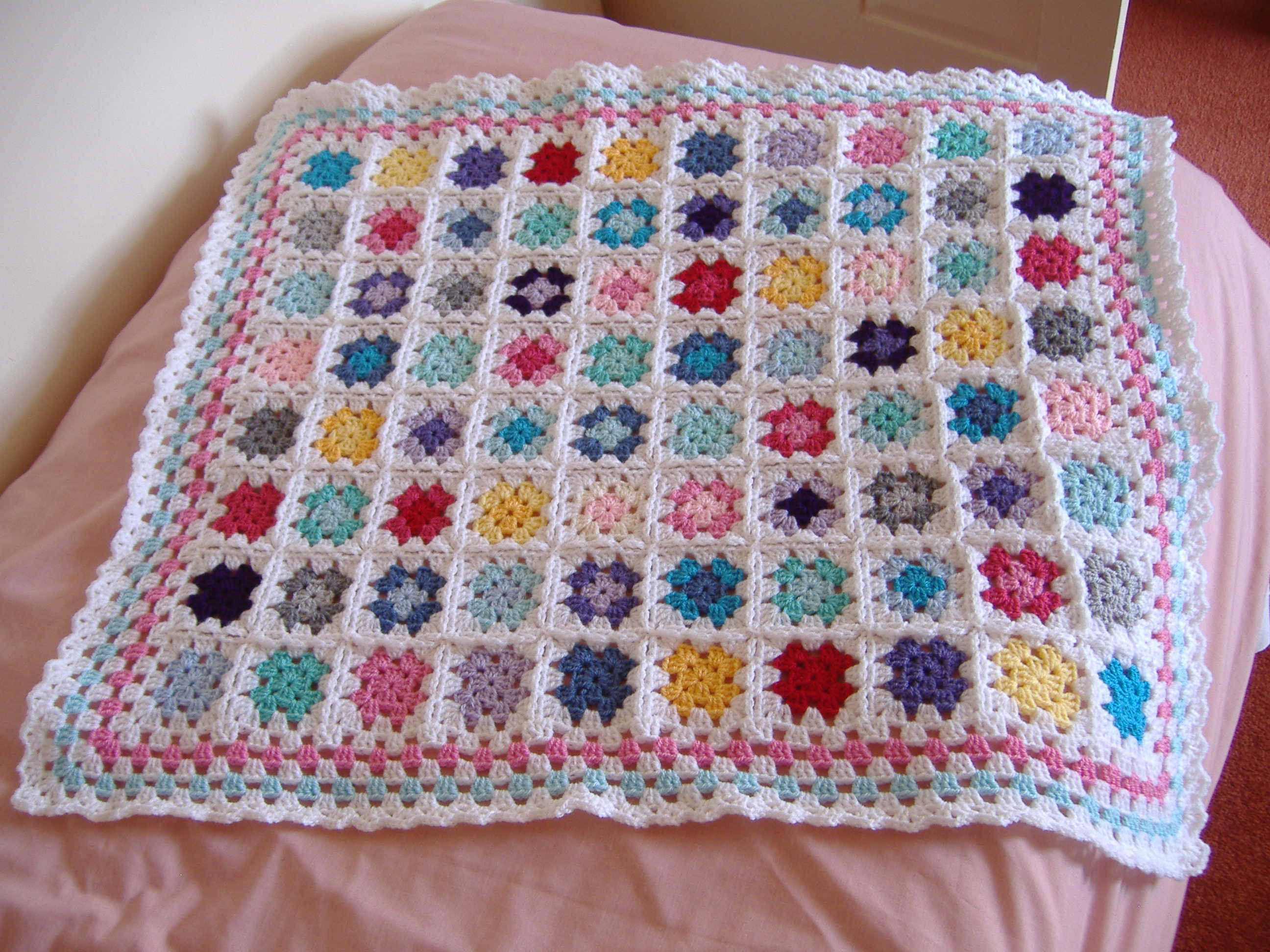 Free Crochet Patterns For Granny Square Baby Blankets