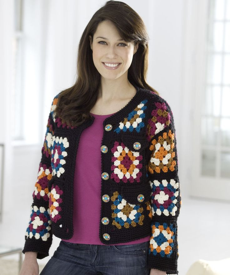 Granny Square Jacket Awesome 10 Best Images About Granny Square Chic Love On Pinterest Of Marvelous 46 Models Granny Square Jacket
