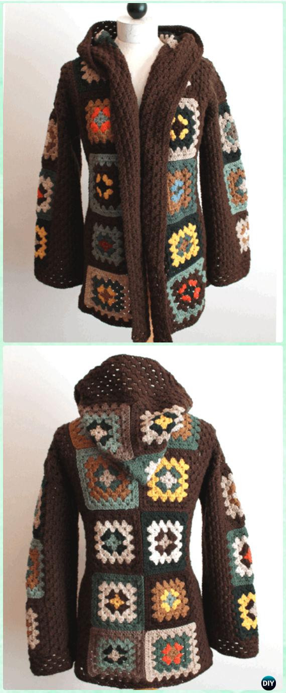 Granny Square Jacket Awesome Crochet Granny Square Jacket Cardigan Free Patterns Of Marvelous 46 Models Granny Square Jacket