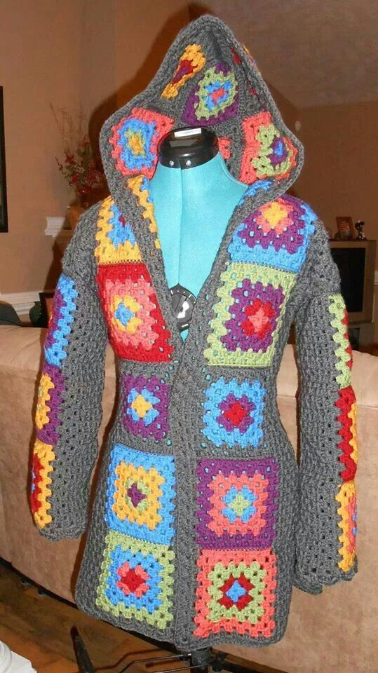 Granny Square Jacket Inspirational 17 Best Images About Granny Square Poncho On Pinterest Of Marvelous 46 Models Granny Square Jacket