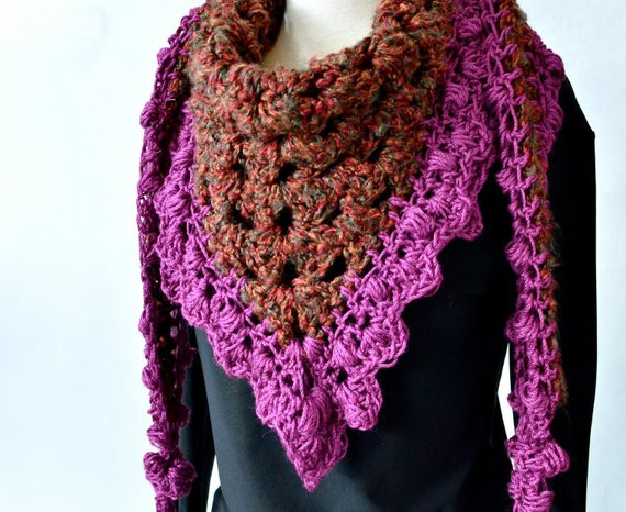 Granny Square Scarf Beautiful Crocheted Granny Square Scarf by Illjay On Etsy Of Unique 47 Pictures Granny Square Scarf