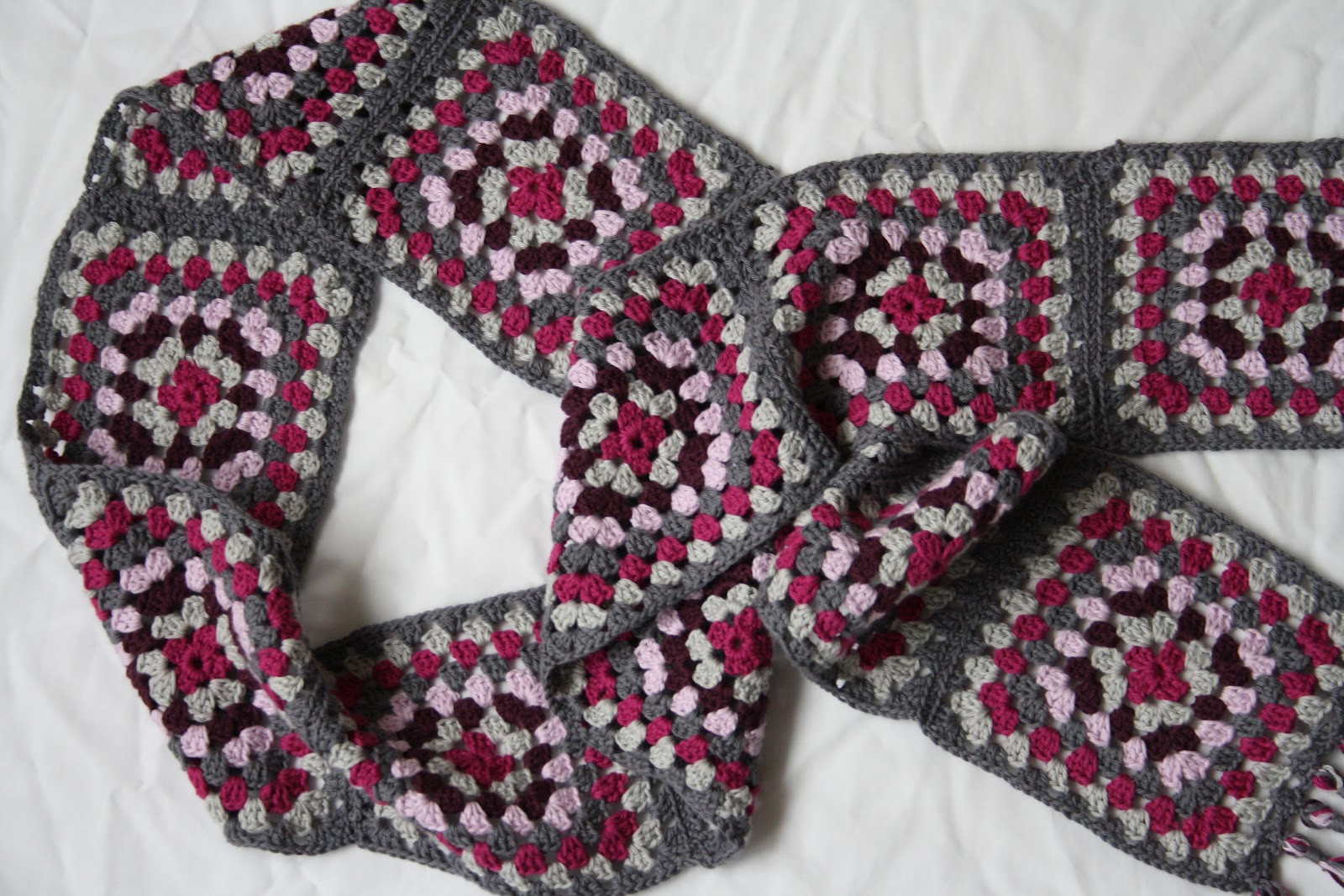 Tales from a happy house A Granny Square Scarf