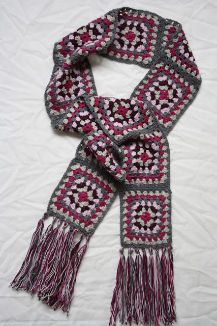 Granny Square Scarf New 25 Best Ideas About Granny Square Scarf On Pinterest Of Unique 47 Pictures Granny Square Scarf