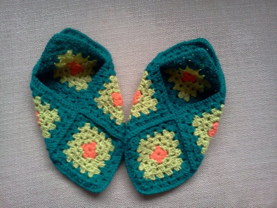 Granny Square Slippers Best Of Granny Square Slippers Green Crochet sock by Margomdesigns Of Fresh 41 Ideas Granny Square Slippers