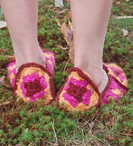 More Fun With An Apron Granny Square Slippers
