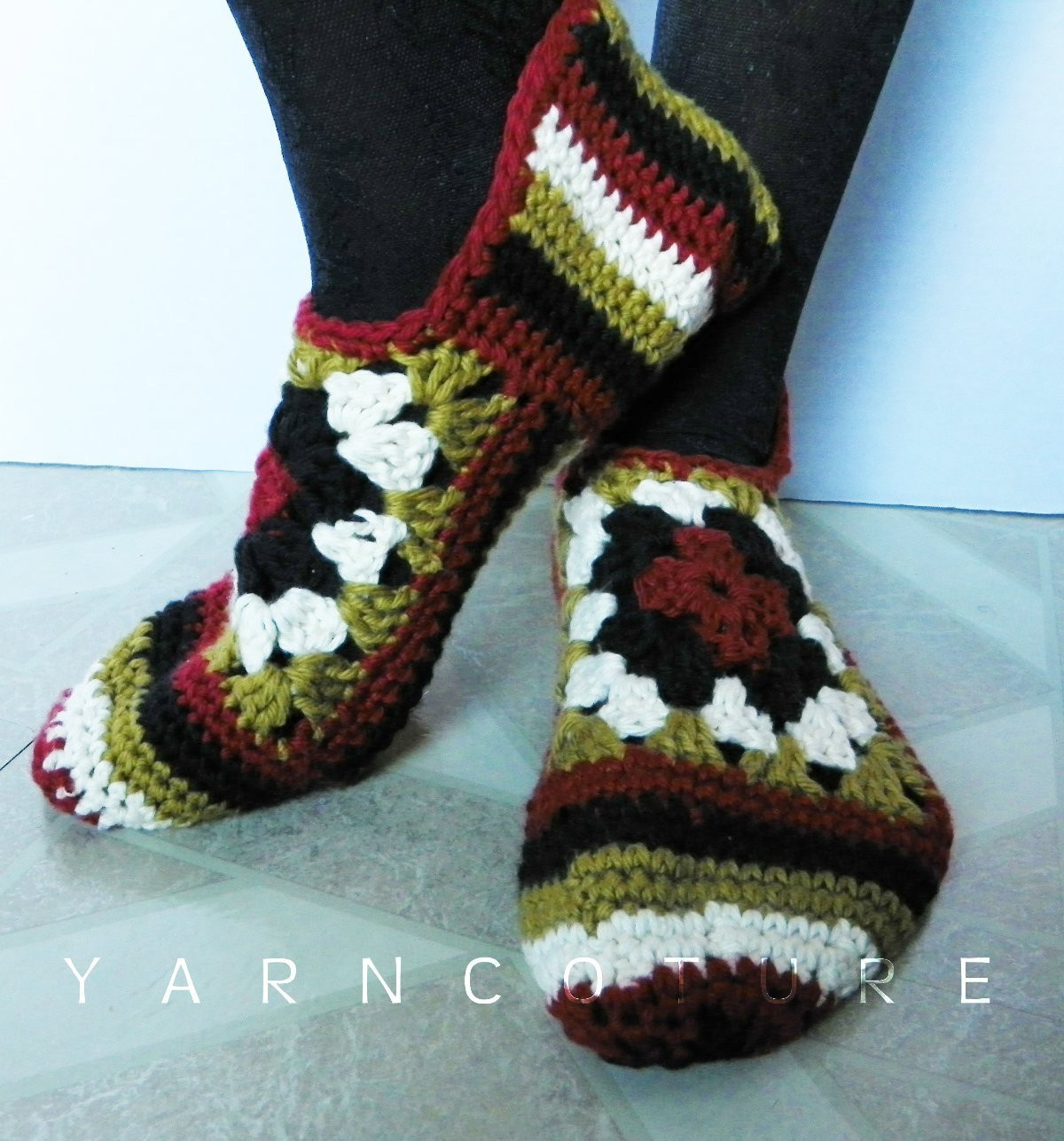 Granny Square Slippers Fresh Crocheted Granny Square Slippers Luxuriously soft Gift for Of Fresh 41 Ideas Granny Square Slippers