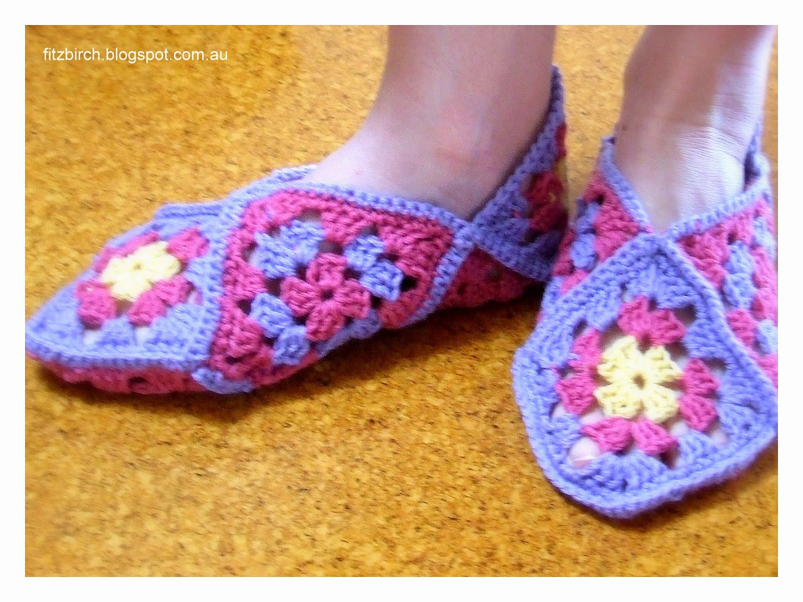 Granny Square Slippers Fresh Fitzbirch Crafts Granny Square Slippers Of Fresh 41 Ideas Granny Square Slippers