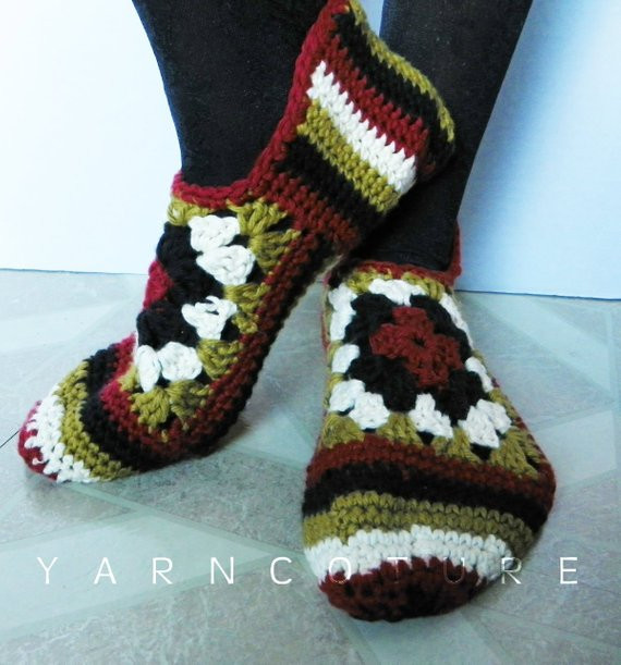 Granny Square Slippers Inspirational Crocheted Granny Square Slippers Luxuriously soft Gift for Of Fresh 41 Ideas Granny Square Slippers