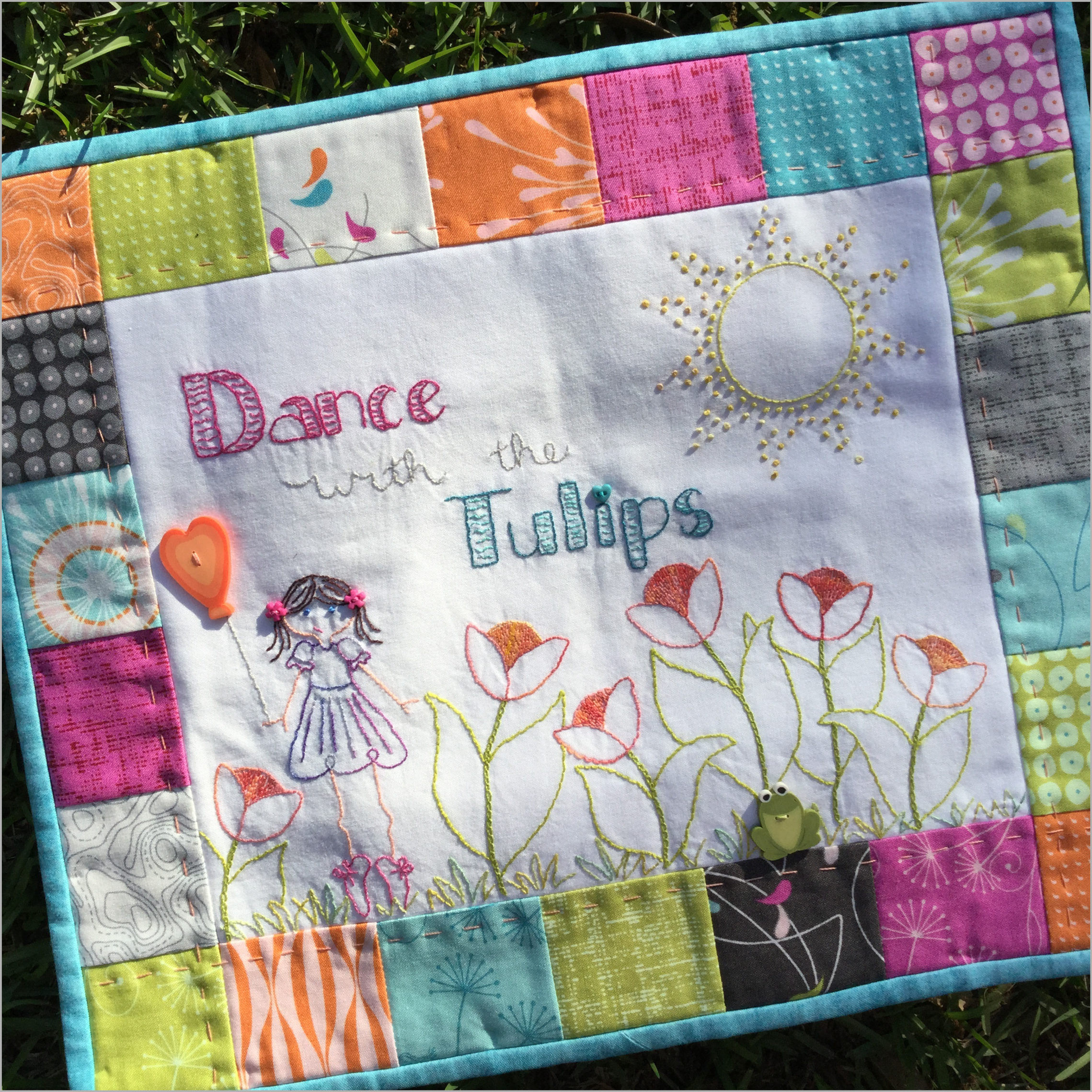 Dance with the Tulips PDF Downloadable Hand Embroidery Pattern