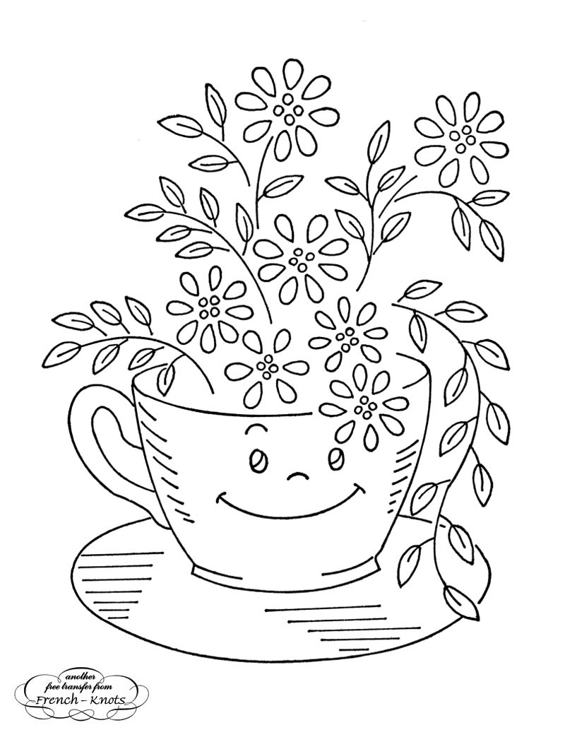Hand Embroidery Patterns New Free Kitchen Ware Hand Embroidery Transfer Patterns Of Adorable 44 Pictures Hand Embroidery Patterns