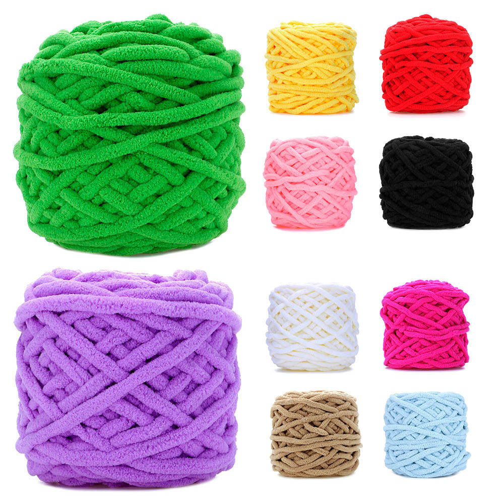 Colorful Anti pilling Hand Knitted Soft Thick Milk Cotton
