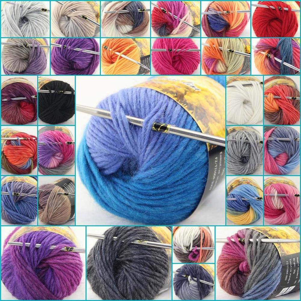 LOT of 1 Skeins x 50g NEW Chunky Hand woven Colors