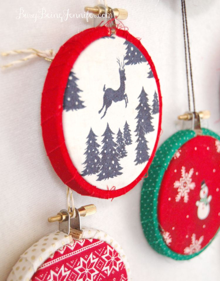Handmade Christmas ornaments Awesome 101 Handmade Days Easy Mini Hoop ornaments Busy Being Of Charming 48 Pictures Handmade Christmas ornaments