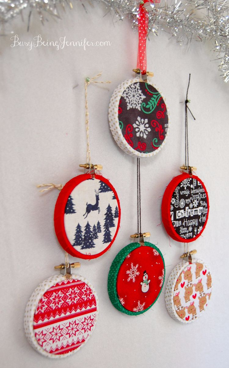 Handmade Christmas ornaments Best Of 101 Handmade Days Easy Mini Hoop ornaments Busy Being Of Charming 48 Pictures Handmade Christmas ornaments