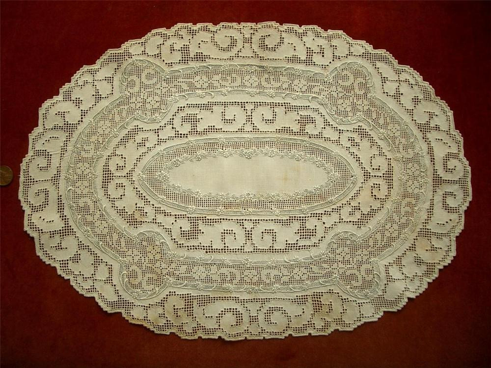 Handmade Doilies Best Of Refined Lg Handmade Antique Vtg Appenzell Embroidery Lace Of Unique 40 Pics Handmade Doilies