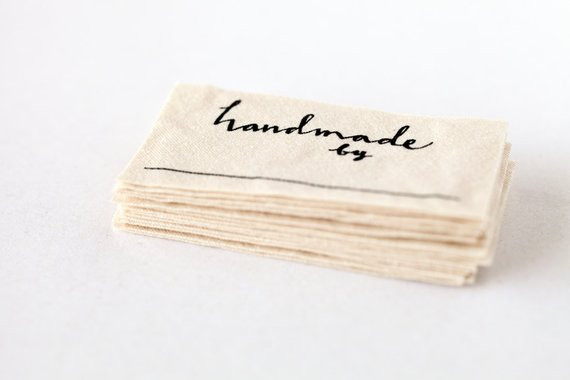 handmade by labels knitting crochet or
