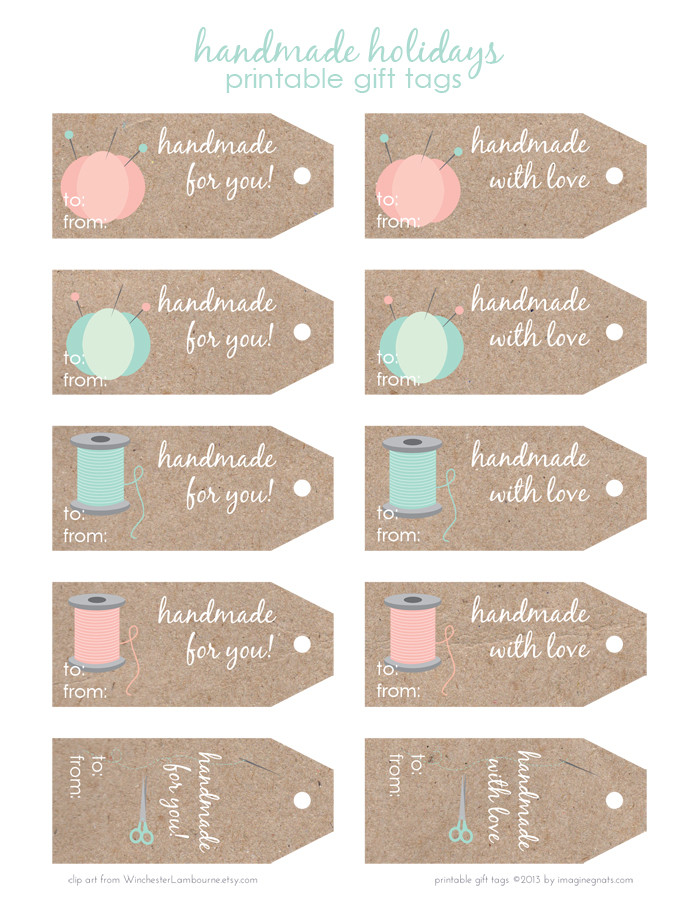 Handmade Labels for Crochet Lovely Free Printable Handmade Holidays T Tags Imagine Gnats Of New 49 Photos Handmade Labels for Crochet