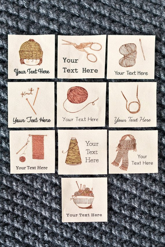 Personalized Knitting Labels custom crochet t or by