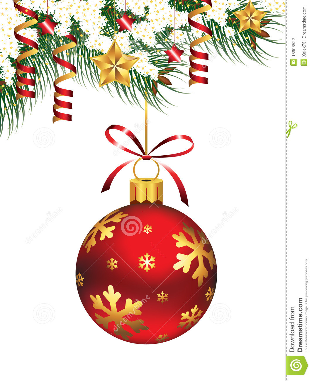 Hanging Christmas ornaments Fresh Hanging Christmas ornament Stock Vector Illustration Of Of Luxury 45 Pictures Hanging Christmas ornaments